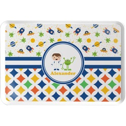 Boy's Space & Geometric Print Serving Tray (Personalized)