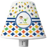 Boy's Space & Geometric Print Shade Night Light (Personalized)
