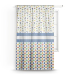 "Boy's Space & Geometric Print Sheer Curtain - 50""x84"" (Personalized)"