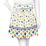 Boy's Space & Geometric Print Skater Skirt (Personalized)