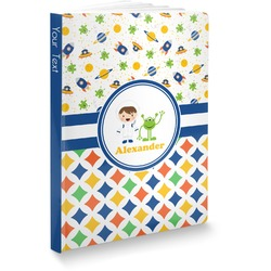 Boy's Space & Geometric Print Softbound Notebook (Personalized)