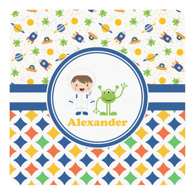 Boy's Space & Geometric Print Square Decal (Personalized)