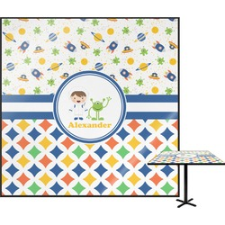 Boy's Space & Geometric Print Square Table Top (Personalized)