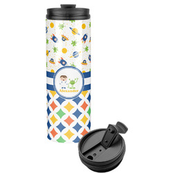 Boy's Space & Geometric Print Stainless Steel Tumbler (Personalized)