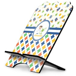 Boy's Space & Geometric Print Stylized Tablet Stand (Personalized)