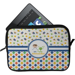 Boy's Space & Geometric Print Tablet Case / Sleeve (Personalized)