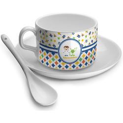 Boy's Space & Geometric Print Tea Cups (Personalized)
