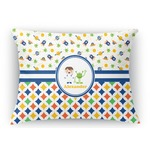 Boy's Space & Geometric Print Rectangular Throw Pillow (Personalized)