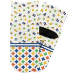 Boy's Space & Geometric Print Toddler Ankle Socks (Personalized)