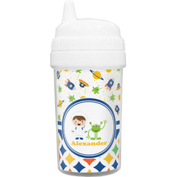 Boy's Space & Geometric Print Toddler Sippy Cup (Personalized)