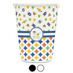 Boy's Space & Geometric Print Waste Basket (Personalized)
