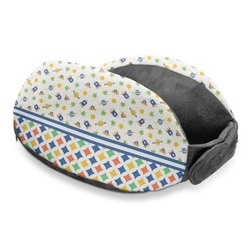 Boy's Space & Geometric Print Travel Neck Pillow (Personalized)