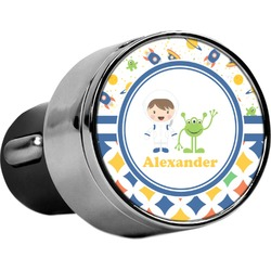Boy's Space & Geometric Print USB Car Charger (Personalized)