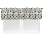 Boy's Space & Geometric Print Valance (Personalized)