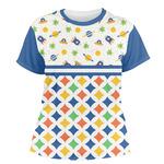 Boy's Space & Geometric Print Women's Crew T-Shirt (Personalized)