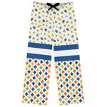 Boy's Space & Geometric Print Womens Pajama Pants (Personalized)
