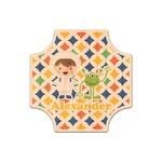 Boy's Space & Geometric Print Genuine Maple or Cherry Wood Sticker (Personalized)