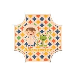 Boy's Space & Geometric Print Genuine Wood Sticker (Personalized)