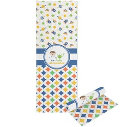 Boy's Space & Geometric Print Yoga Mat - Printable Front and Back (Personalized)