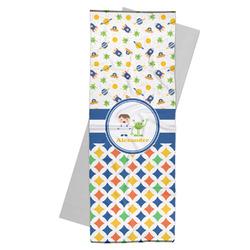 Boy's Space & Geometric Print Yoga Mat Towel (Personalized)