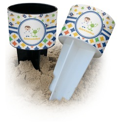 Boy's Space & Geometric Print Beach Spiker Drink Holder (Personalized)