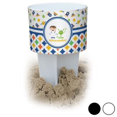 Boy's Space & Geometric Print Beach Spiker Drink Holder (Personalized)