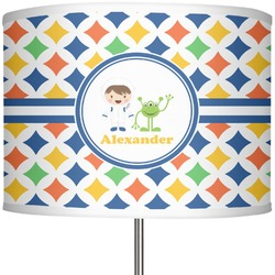 """Boy's Astronaut 13"""" Drum Lamp Shade (Personalized)"""