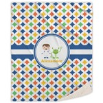 Boy's Astronaut Sherpa Throw Blanket (Personalized)
