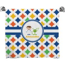 Boy's Astronaut Full Print Bath Towel (Personalized)