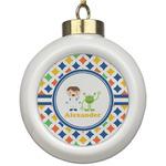 Boy's Astronaut Ceramic Ball Ornament (Personalized)