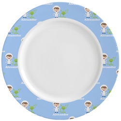 Boy's Astronaut Ceramic Dinner Plates (Set of 4) (Personalized)