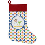 Boy's Astronaut Holiday Stocking w/ Name or Text
