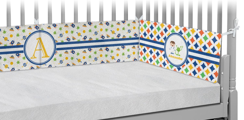 Boy's Astronaut Crib Bumper Pads (Personalized) - You ...