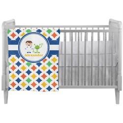Boy's Astronaut Crib Comforter / Quilt (Personalized)