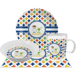 Boy's Astronaut Dinner Set - 4 Pc (Personalized)