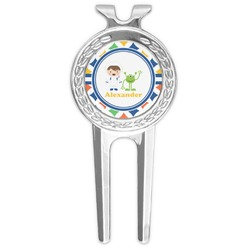Boy's Astronaut Golf Divot Tool & Ball Marker (Personalized)