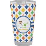 Boy's Astronaut Drinking / Pint Glass (Personalized)