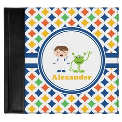 Boy's Astronaut Genuine Leather Baby Memory Book (Personalized)