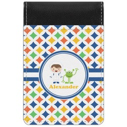 Boy's Astronaut Genuine Leather Small Memo Pad (Personalized)