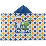 Boy's Astronaut Kids Hooded Towel (Personalized)