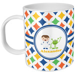 Boy's Astronaut Plastic Kids Mug (Personalized)