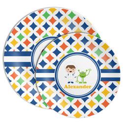 Boy's Astronaut Melamine Plate (Personalized)