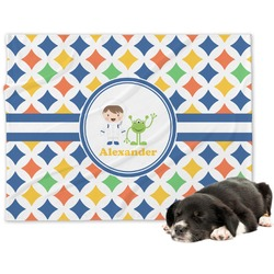 Boy's Astronaut Dog Blanket (Personalized)