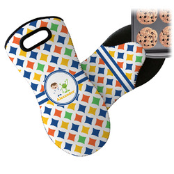 Boy's Astronaut Neoprene Oven Mitts w/ Name or Text
