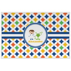 Boy's Astronaut Laminated Placemat w/ Name or Text