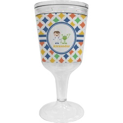 Boy's Astronaut Wine Tumbler - 11 oz Plastic (Personalized)