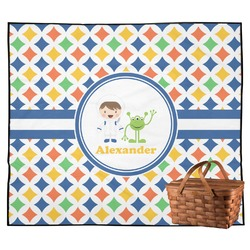 Boy's Astronaut Outdoor Picnic Blanket (Personalized)