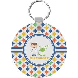 Boy's Astronaut Round Keychain (Personalized)