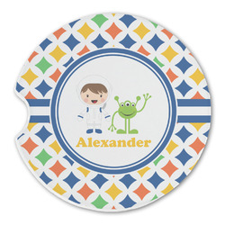 Boy's Astronaut Sandstone Car Coasters (Personalized)