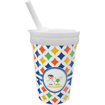 Boy's Astronaut Sippy Cup with Straw (Personalized)